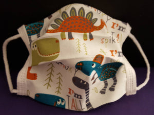 Dinosaur -Germ Freak Designer Face Mask by Dena Tyson