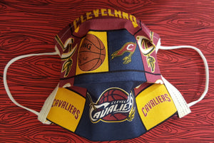 Cleveland Cavaliers Inspired- Germ Freak Designer face Mask by Dena Tyson