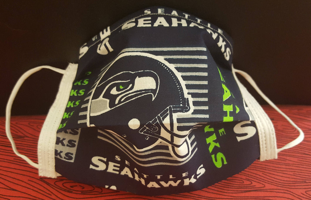 Seattle Seahawks Inspired - Germ Freak Designer Face Mask by Dena Tyson