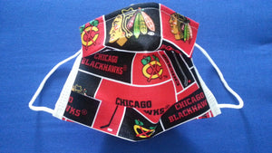 Chicago Black Hawks -Germ Freak Designer Face Mask by Dena Tyson - Germ Freak by DenaTyson