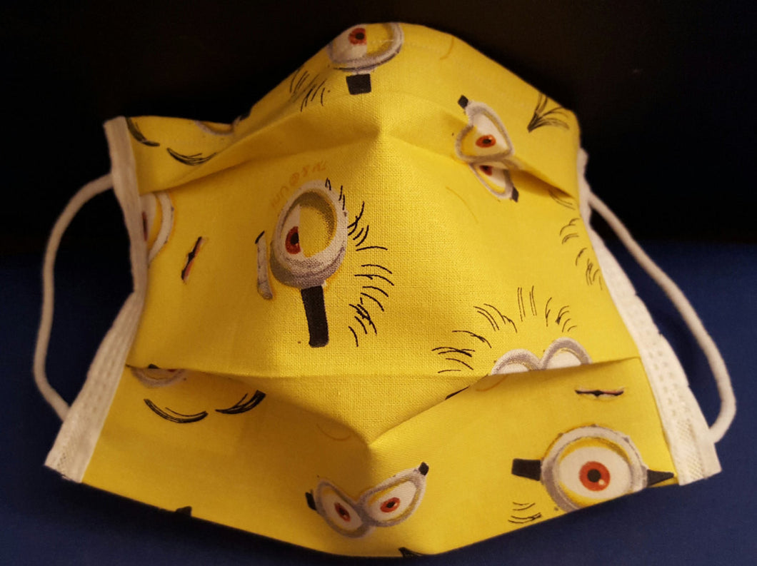Minion Peepers- Germ Freak Designer Face Mask By Dena Tyson - Germ Freak by DenaTyson