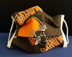 Cleveland Browns Inspired Germ Freak Designer Face Mask by Dena Tyson - Germ Freak by DenaTyson