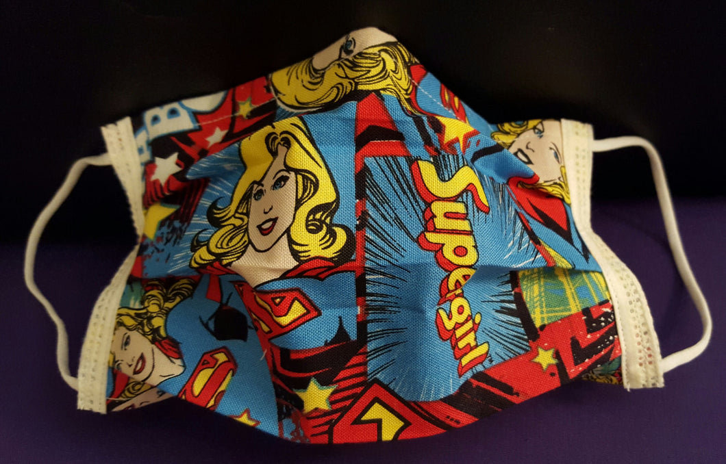 DC Comics Supergirl -Germ Freak Designer Face Mask by Dena Tyson - Germ Freak by DenaTyson