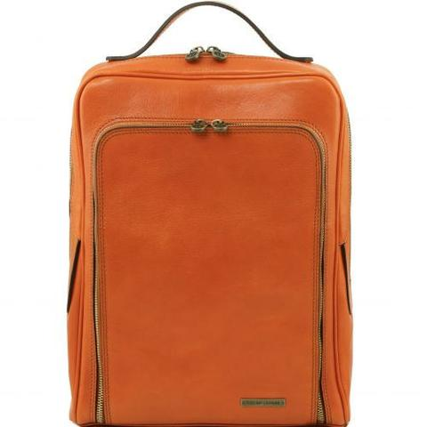 order leather laptop backpack online