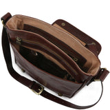 TL Messenger - One compartment leather shoulder bag leather briefcases