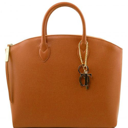 TL KeyLuck - Saffiano leather tote - Large size