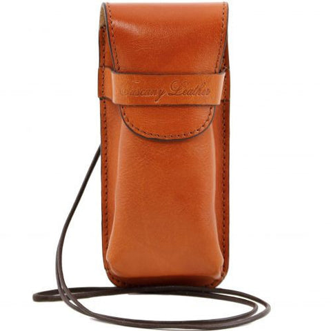 Exclusive leather eyeglasses/Smartphone holder