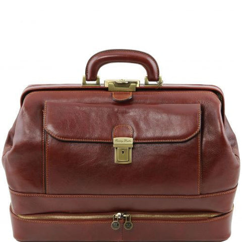 Giotto - Exclusive double-bottom leather doctor bag