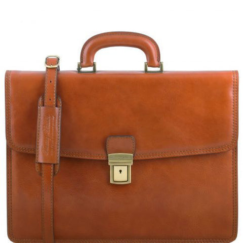 Amalfi - Leather briefcase 1 compartment