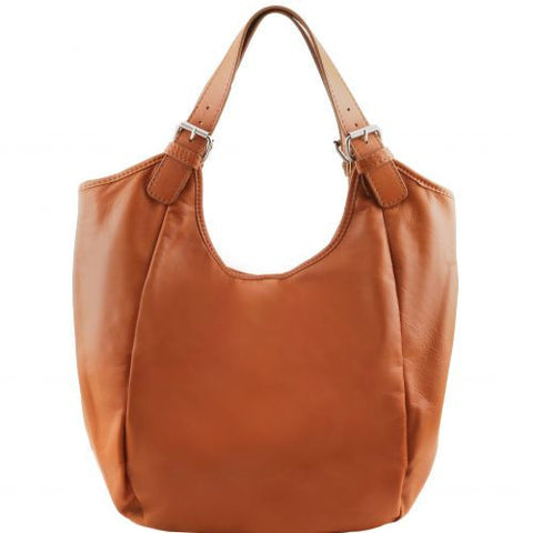 Gina - Leather hobo bag
