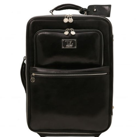 TL Voyager - 2 Wheels vertical Leather trolley