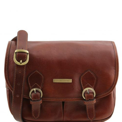 Giulia - Leather shoulder bag with flap