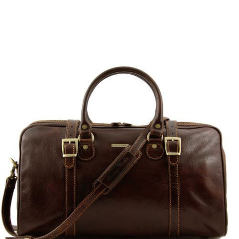 Berlin - Travel leather duffle bag - Small size