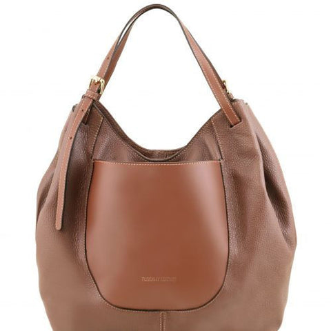Cinzia - Soft leather shopping bag