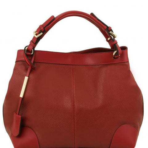 Ambrosia - Soft leather bag with shoulder strap