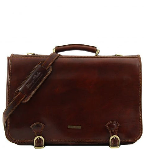 Ancona - Leather messenger bag - Large size
