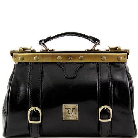 Monalisa - Doctor gladstone leather bag with front straps