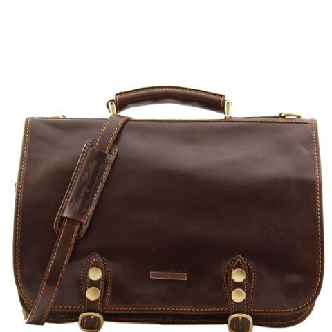 Capri - Leather messenger bag 2 compartments