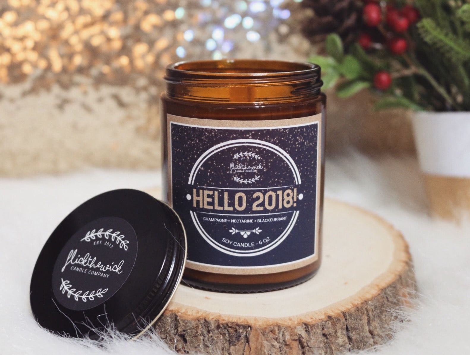 Hello 2018! - Candle of the Month (6oz)