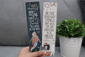 Pirate/Siren Bookmark - 2x8 Sturdy Double-sided - Flick The Wick