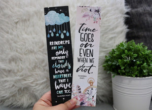 Shatter Me Bookmark - 2x8 Sturdy Double-sided - Flick The Wick
