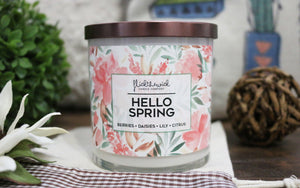 Hello Spring - Wooden Wick Collection - Flick The Wick