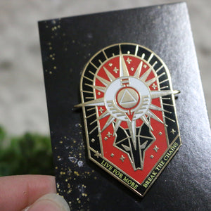 Red Rising Enamel Pin - Flick The Wick