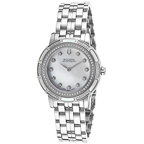 Bulova Accu Swiss Ladies Diamond Watch 63R139