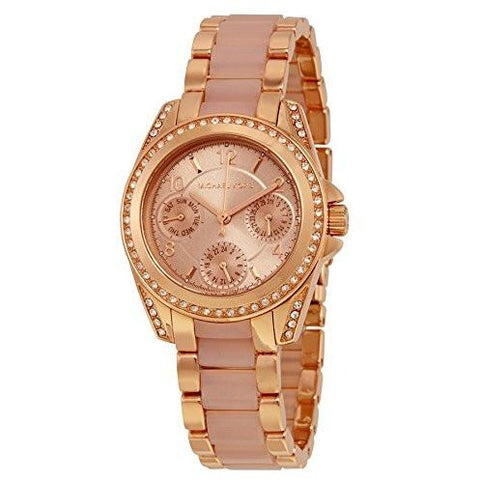 Michael Kors Women s Mini Blair Rose Gold Tone Watch MK6175