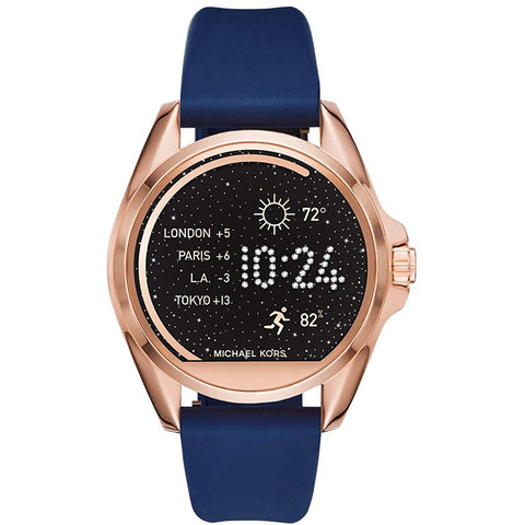 Michael Kors Access Bradshaw Navy Silicone Smartwatch Strap MKT9002