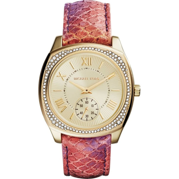 Michael Kors Watches Bryn Multifunction Leather Watch Orange