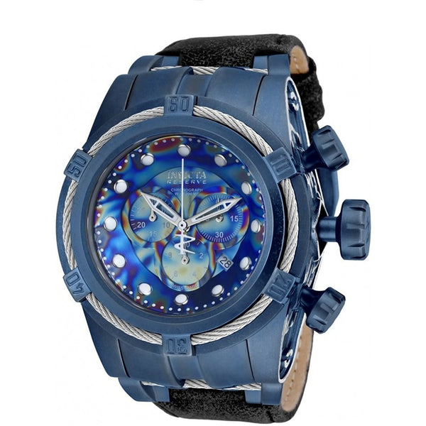 New Mens Invicta 17376 Bolt Zeus Empire Swiss Made Chronograph Leather Watch