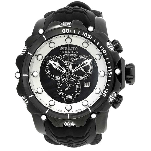 Invicta Men s Venom Swiss Quartz Stainless Steel and Silicone Casual Watch, Color Black Model 20399