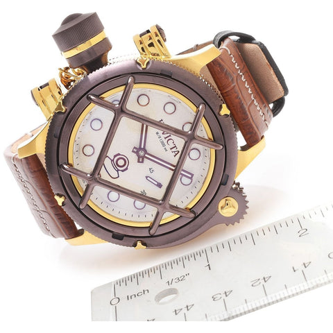 Invicta Men s 16194 Russian Diver Nautilus Swiss Mechanical Brown Leather Strap Watch
