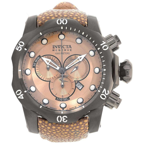 Invicta Men s 18307 Venom Quartz Chronograph Light Brown Dial Watch