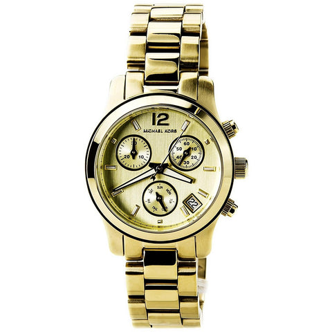 Michael Kors Gold tone Stainless Steel Chronograph Ladies Watch