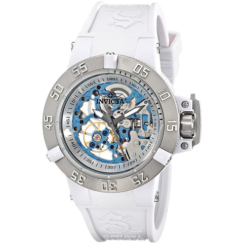 17144 Watch INVICTA Subaqua Lady 42mm Stainless Steel Plastic White Silver dial TY2807 Mechanical