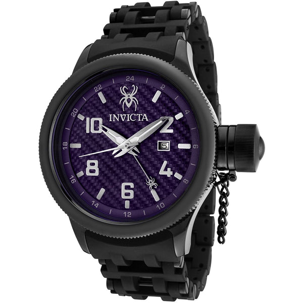 Invicta Men s 0564 Russian Diver Collection GMT Carbon Fiber Dial Watch