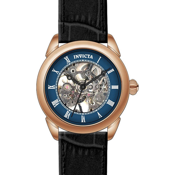 Invicta Men s Specialty Mechanical Hand Wind Stainless Steel and Leather Casual Watch, Color Black Model 23538