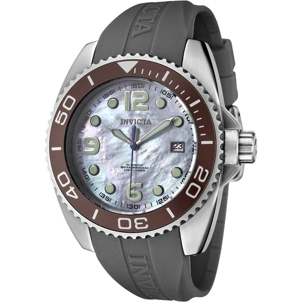 Invicta Women s 0483 Angel Collection Stainless Steel Grey Polyurethane Strap Watch