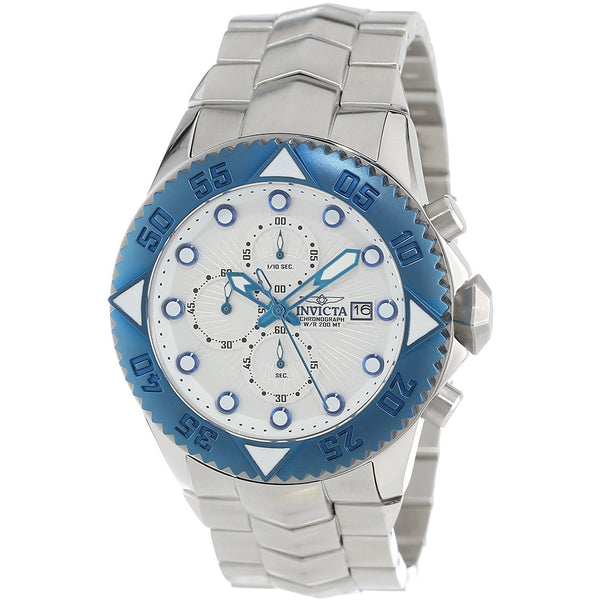 Invicta Men s 13103 Pro Diver Chronograph Silver Textured Dial Stainless Steel Watch