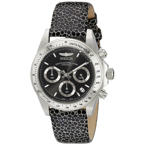 Invicta Women s 18359 Speedway Analog Display Japanese Quartz Black Watch