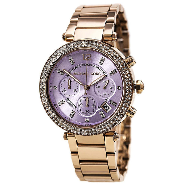 Michael Kors Women s Parker Watch, Rose Gold Lavender, One Size