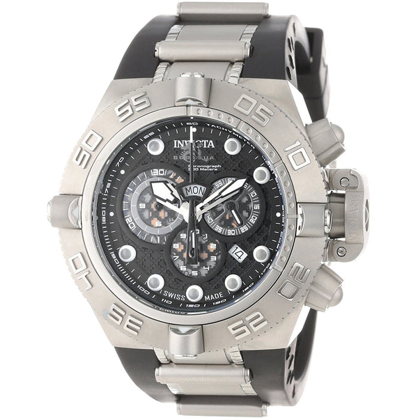 Invicta Men s 1388 Subaqua Noma IV Chronograph Black Dial Polyurethane Watch