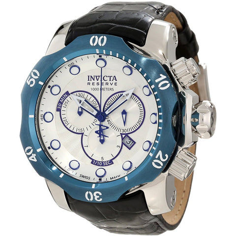 Invicta Men s 10781 Venom Reserve Chronograph Silver Textured Dial Watch