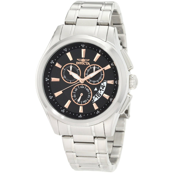 Invicta Men s 1976 Specialty Chronograph Black Dial Stainless Steel Watch