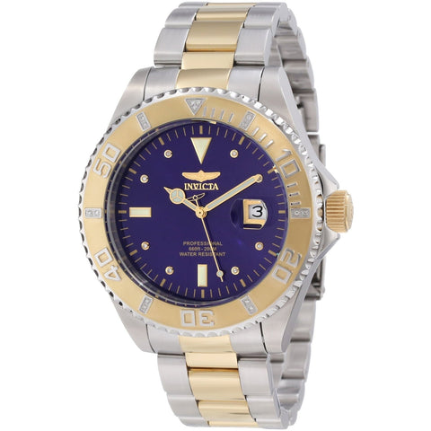 Invicta Men s 12818 Pro Diver Blue Dial Diamond Accented Watch