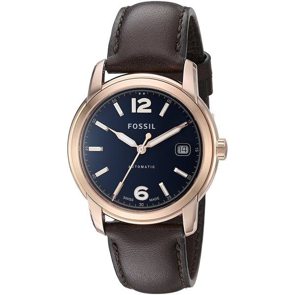 Fossil FSW1003 Swiss Made Automatic Leather Watch Brown