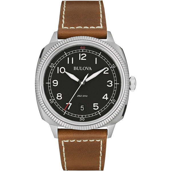 Bulova 96B230 Mens Military UHF Black Brown Watch