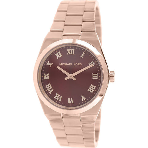 Michael Kors Women s Channing Watch, Rose Crimson, One Size